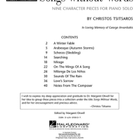 Songs Without Words - Nine Character Pieces for Piano Solo 1