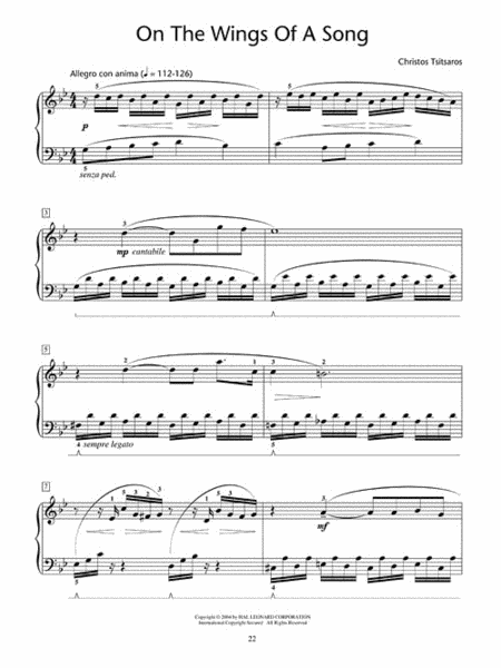 Songs Without Words - Nine Character Pieces for Piano Solo 4
